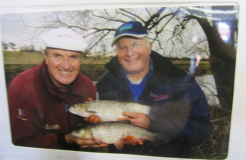 Bob Nudd on a days fishing with Alan Stephens